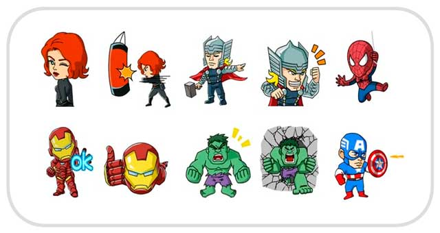 Stickers Marvel for WeChat