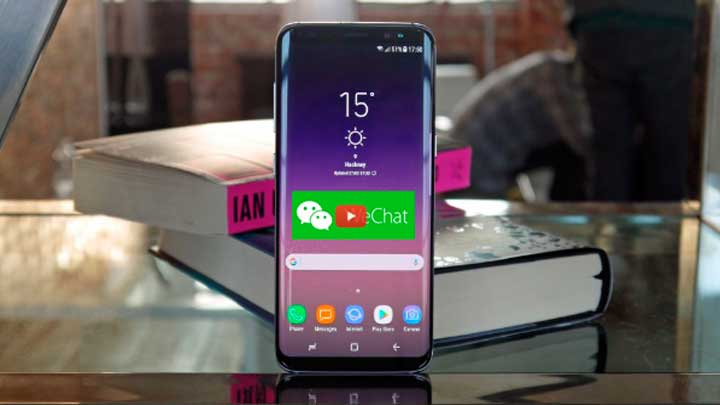 Wechat free download for Android on Samsung Galaxy S8 S9