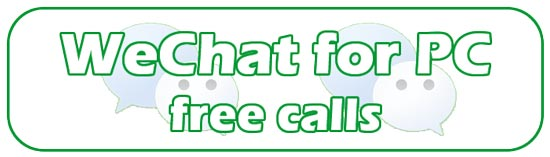 make free calls with WeChat