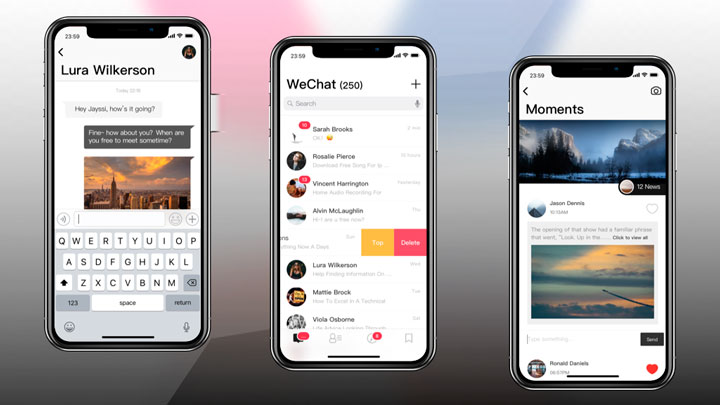 Download Wechat iphone X