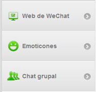 features emoticons and web wechat